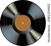 lp vinyl record with blank... | Shutterstock .eps vector #1081154402