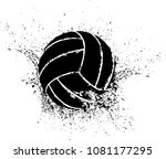 silhouette of a volleyball...   Shutterstock .eps vector #1081177295
