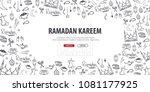illustration of ramadan kareem... | Shutterstock .eps vector #1081177925