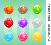 diamond candy block puzzle... | Shutterstock .eps vector #1081188662