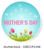 happy mother's day button with... | Shutterstock .eps vector #1081191146