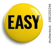 easy yellow button sign 3d icon ...   Shutterstock . vector #1081202246