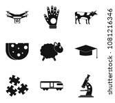 fall asleep icons set. simple... | Shutterstock . vector #1081216346