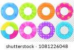 swim rings set. inflatable... | Shutterstock .eps vector #1081226048