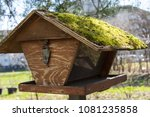 Brown Wooden Birdhouse With...