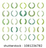 set of different silhouette... | Shutterstock .eps vector #1081236782