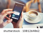 chatbot answering questions... | Shutterstock . vector #1081264862