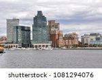 tall  high rise buildings line... | Shutterstock . vector #1081294076