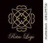vintage logo template. vector... | Shutterstock .eps vector #1081299716