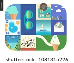 simple things   vacation   flat ... | Shutterstock .eps vector #1081315226