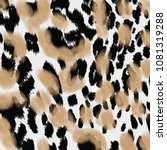 Stock photo animal print leopard texture background 1081319288