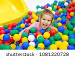 girl playing and having a good... | Shutterstock . vector #1081320728