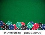 poker casino chips border... | Shutterstock . vector #1081320908