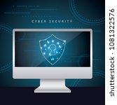 cyber security digital | Shutterstock .eps vector #1081322576