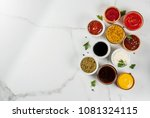 Set Of Different Sauces  ...