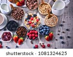 composition with different... | Shutterstock . vector #1081324625