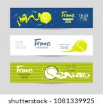 set designs for tennis. modern... | Shutterstock .eps vector #1081339925