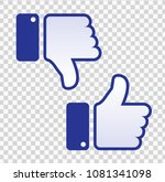 like and dislike icon. thumbs... | Shutterstock .eps vector #1081341098