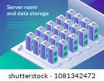digital technology  hosting... | Shutterstock .eps vector #1081342472