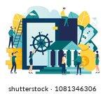 vector flat illustration ... | Shutterstock .eps vector #1081346306