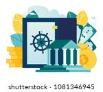 vector flat illustration ... | Shutterstock .eps vector #1081346945