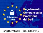 rgdp   italian regolamento... | Shutterstock .eps vector #1081361912