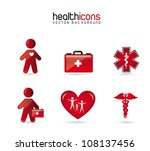 health icons  over white... | Shutterstock .eps vector #108137456