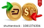 dash to dollar currency... | Shutterstock .eps vector #1081376306