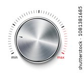 volume button metal texture...   Shutterstock .eps vector #1081381685