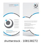 elegant business brochure design | Shutterstock .eps vector #108138272