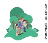 parents couple with son and... | Shutterstock .eps vector #1081390835