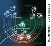 cyber security technology | Shutterstock .eps vector #1081403825