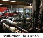 inside of a bio heat factory | Shutterstock . vector #1081404572