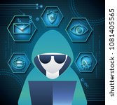 cyber security technology | Shutterstock .eps vector #1081405565