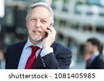 senior manager on the phone | Shutterstock . vector #1081405985