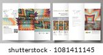 tri fold brochure business...   Shutterstock .eps vector #1081411145