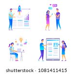 people and web design technology | Shutterstock .eps vector #1081411415