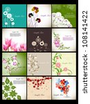 beautiful floral background set ... | Shutterstock .eps vector #108141422