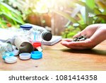 garbage to recycle and reuse... | Shutterstock . vector #1081414358