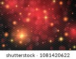 red abstract bokeh background.... | Shutterstock .eps vector #1081420622