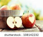 Ripe Red Apple Still Life...