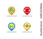 set of food point logo designs...   Shutterstock .eps vector #1081425866