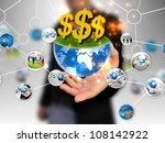 businessman holding business... | Shutterstock . vector #108142922
