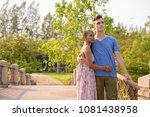 portrait of young handsome man... | Shutterstock . vector #1081438958
