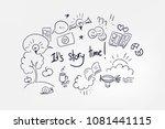 vector sketch lettering word... | Shutterstock .eps vector #1081441115