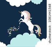 unicorn vector poster  | Shutterstock .eps vector #1081441568