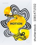 fluid motion shapes. abstract... | Shutterstock .eps vector #1081471532