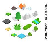 landscape icons set in... | Shutterstock .eps vector #1081484882