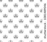 monarch crown pattern vector... | Shutterstock .eps vector #1081489046