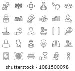thin line icon set   business... | Shutterstock .eps vector #1081500098